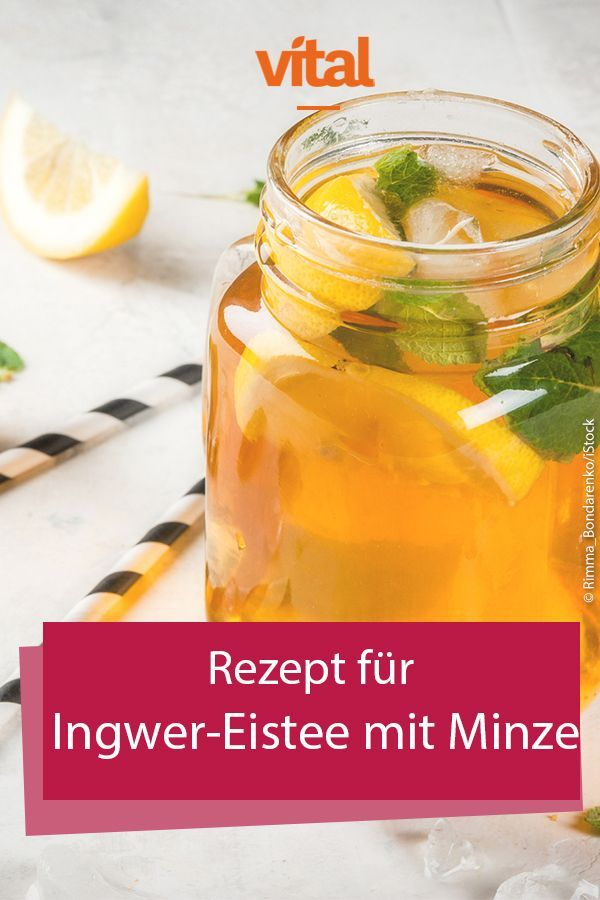 Recipe for ginger iced tea with mint -  On hot #Sommertagen we long for a cool drink. # soft drinks from industry there is like sand by the - #BudgetMealPlanning22.904 #CleanEatingLunches #EatCleanDinners #FrugalMeals #ginger #HealthyJuiceRecipes #Iced #JuiceRecipes #Meal-BudgetCooking #Mint #MoneySavingMeals #recipe #Tea