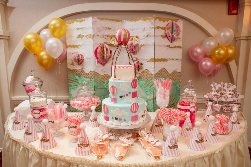 Hot Air Balloon First Birthday Candy Cake Station
