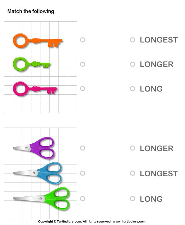 Long, longer, longest - TurtleDiary.com | size games | Pinterest ...
