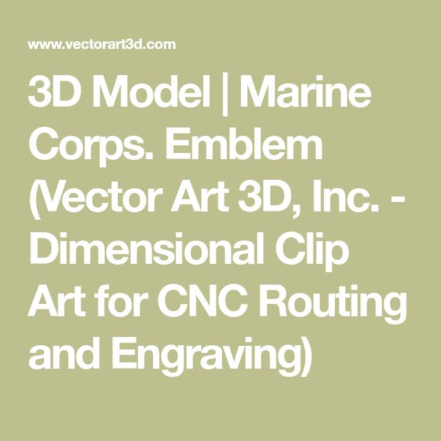 3D Model | Marine Corps  Emblem (Vector Art 3D, Inc