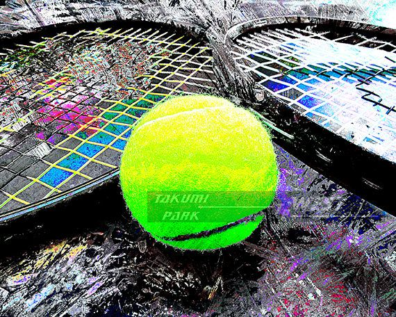 Looking For Some Modern Tennis Decor This Tennis Artwork Is A Photo Print And Can Be Found Etsy On Takumipark Wes Tennis Art Tennis Artwork Sports Wall Decor
