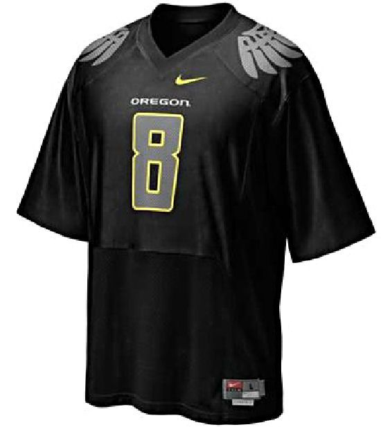 purchase cheap 44c41 5d0f3 Oregon Ducks Youth 8 Black Football Jersey By Nike