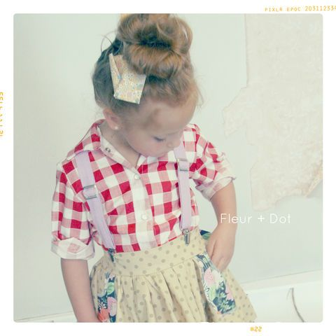 Gorgeous handmade clothing with lots of gingham, peter pan collars, and bows <3 http://fleuranddot.mysupadupa.com/