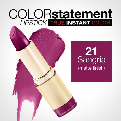 Milani Color Statement Lipstick 21 Sangria (Matte)