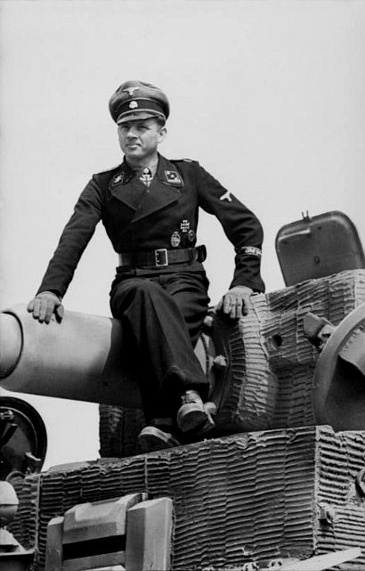 Arguably one of the most iconic images of the Second World War, SS-Obersturmführer Wittmann prepares to take the battle to the Western Front