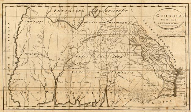 Colonial Map Of Georgia.Map Of Georgia Georgia County Map Map Highway Map