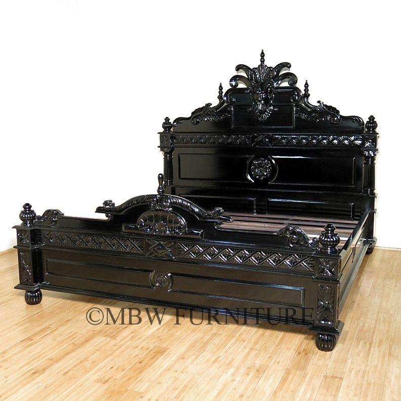 Black Gothic Gargoyle Bed E King Gothic Furniture Gothic Bedroom Gothic Bed