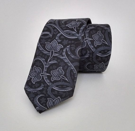 Black Necktie, Black Men's Tie, Black Cravat, Black Tie - DK305 #handmadeatamazon #nazodesign