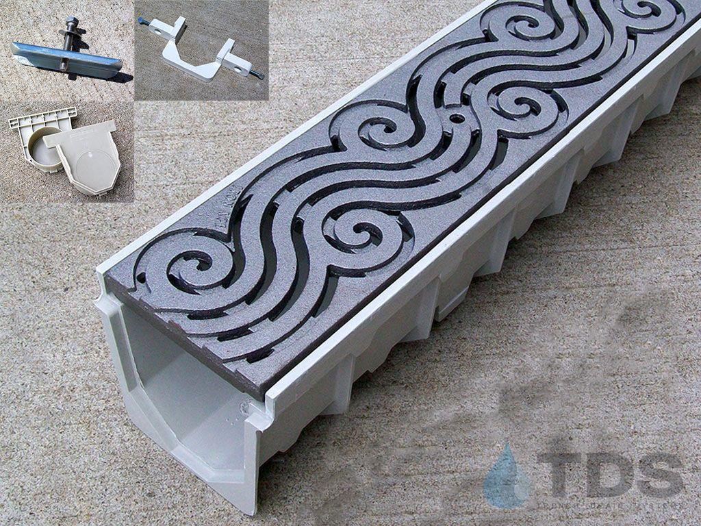 5 Mearin 100 Driveway Drainage Kit W Cast Iron Grates Argo Drainagekits Com Drainage Iron Grate Underground Gutter Drainage