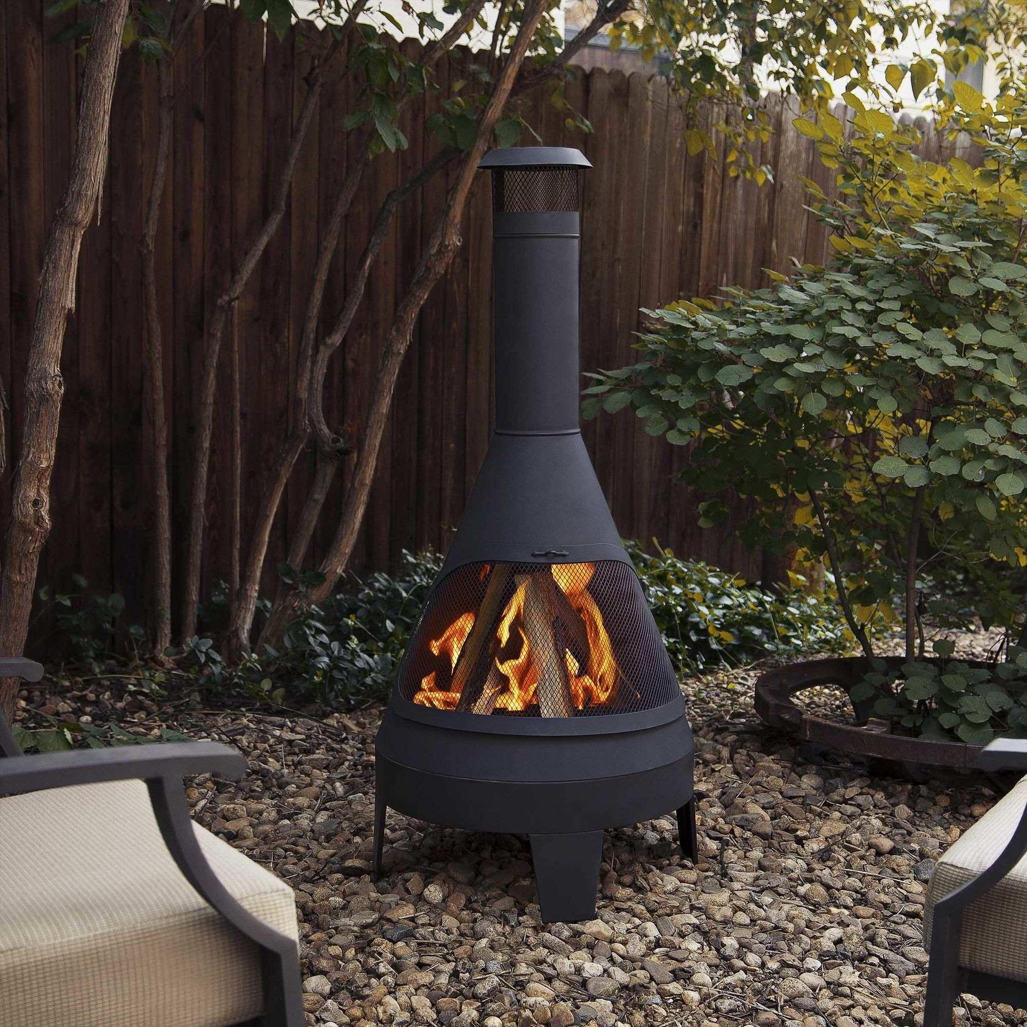 Steel Camber Chiminea | Outdoor fire, Outdoor fire pit ... on Quillen Steel Outdoor Fireplace id=76448