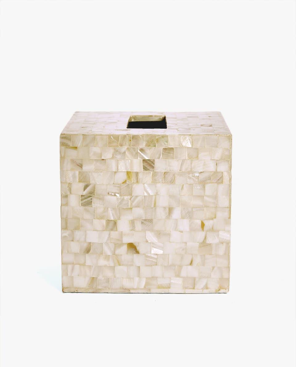 usine authentique style moderne prix compétitif Image 2 du produit BOÎTE À MOUCHOIRS NACRE | Home en 2019 ...