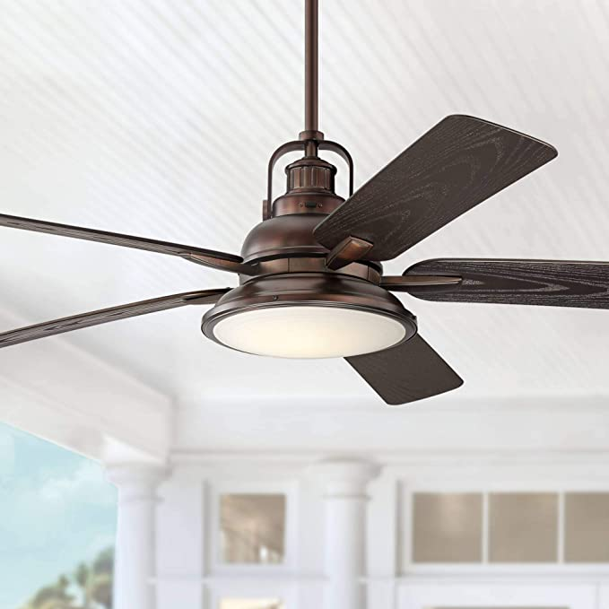 60 Wind And Sea Industrial Outdoor Ceiling Fan With Light Led Dimmable Remote Control Oil Brushed Bron In 2020 Outdoor Ceiling Fans Ceiling Fan Ceiling Fan With Light