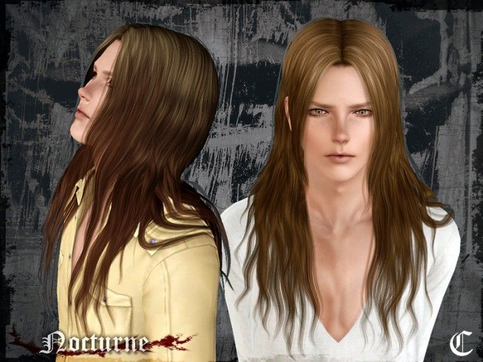 Nocturne Long Hair For Males By Cazycx Free Sims 3 Hairstyles Downloads They Ll Hold You Forever Custom Conte Sims Hair Sims 4 Hair Male Long Hair Styles Men