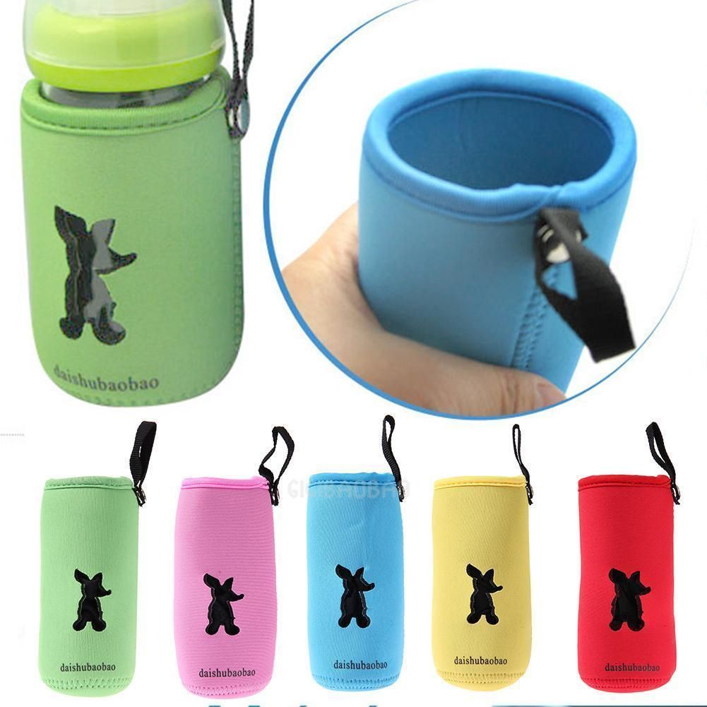 Feeding Milk Bottle Insulation Bag Cup Hang Warmer Thermal Bottle Cover Pouch