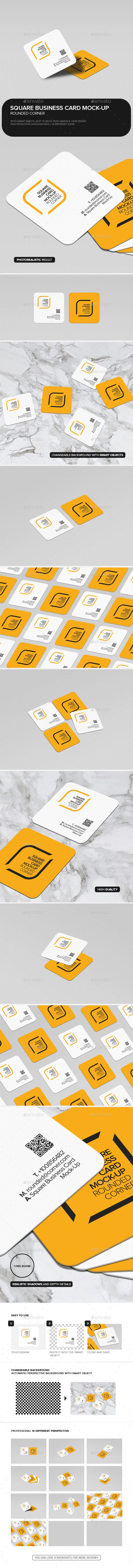 Square Business Card Mock Up Rounded Corner Download here s