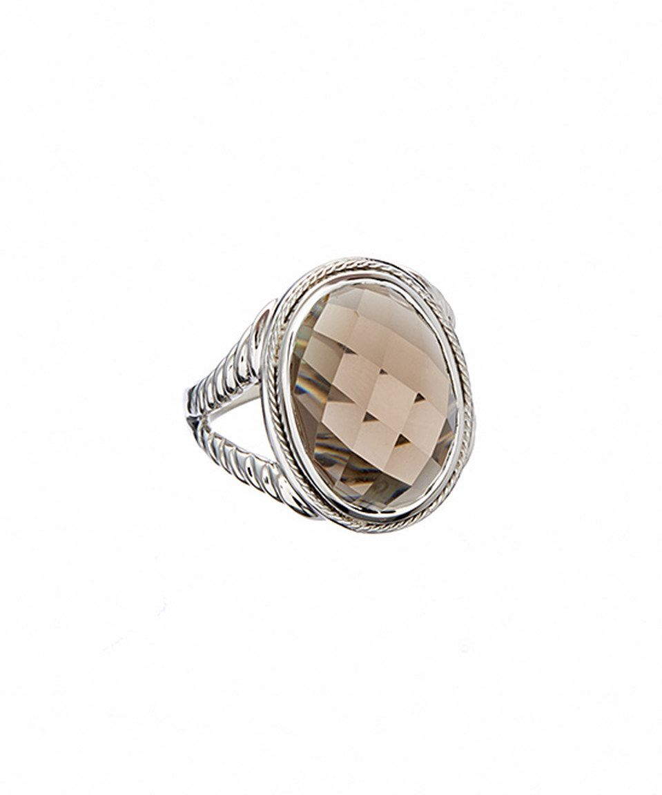Another great find on #zulily! Smoky Quartz & Two-Tone Checker Ring by Greg Anthony #zulilyfinds