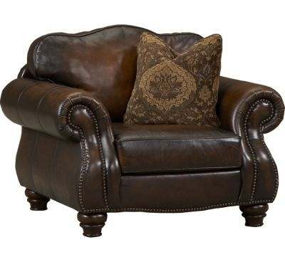 havertys distressed leather nailhead large sofa   Living Rooms, Castleton Chair, Living Rooms   Havertys ...