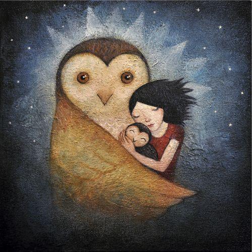 """""""Crianza ancestral"""" Texto de Laia Oraá. Arte de Lucy Campbell"""