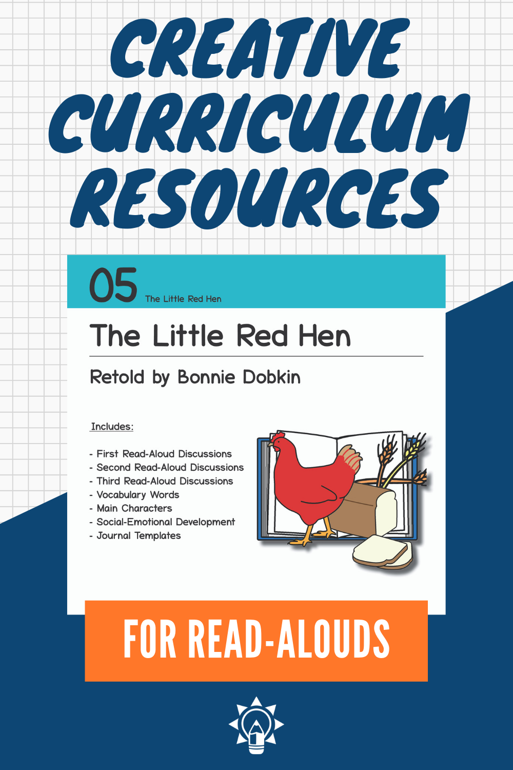 The Little Red Hen Supplement For Book Discussion Card 05 For Creative Curriculum From Teachin Creative Curriculum Teaching Strategies Teaching Strategies Gold