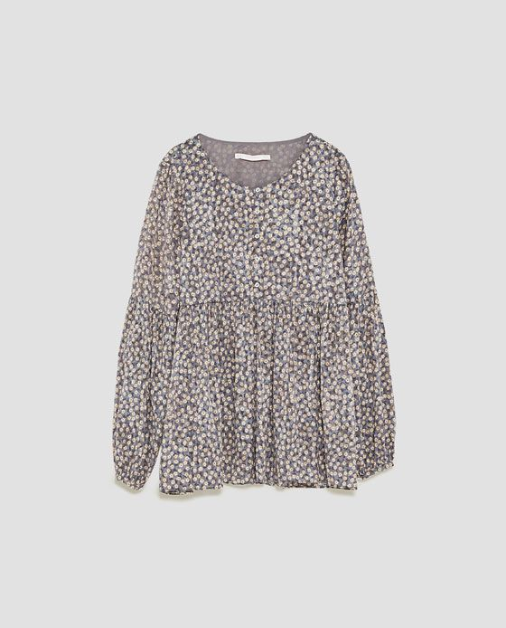 89733533 Image 8 of MINI FLORAL PRINT TOP from Zara | wish list | Floral ...