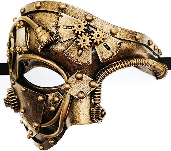 Amazon Com Ubauta Steam Punk Phantom Of The Opera Vintage Masquerade Venetian Luxury Men Face Mask Party Mens Masquerade Mask Masks Masquerade Venetian Mask