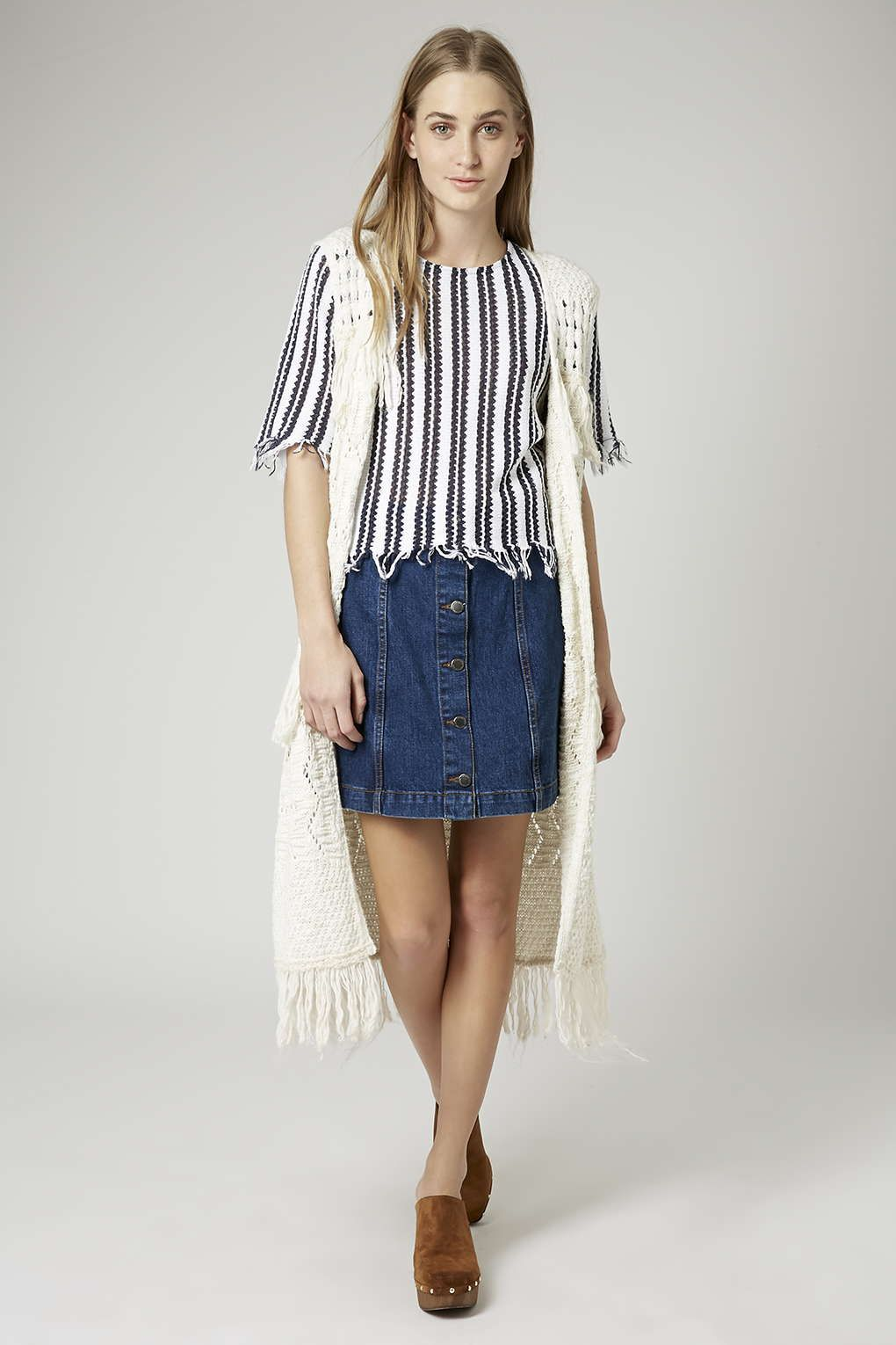 PETITE Denim Button Front Skirt | Topshop, Short skirts and Street ...
