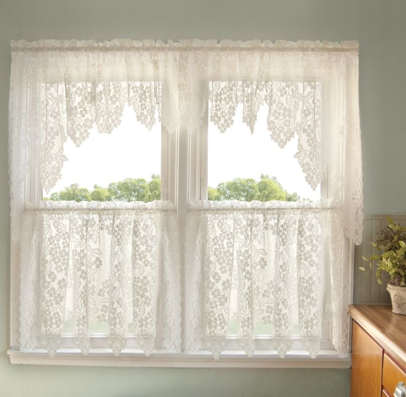 Dogwood Lace Curtains - Romantic - Decorating With Lace | decorating ...