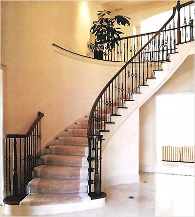 Indoor Stair Railing Ideas | ... And Disadvantages From Wrought Iron Stair  Rails |