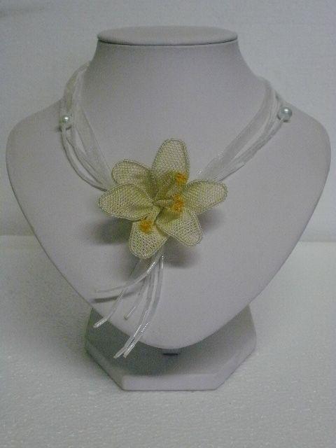 collana seta fiore - silk flower necklace
