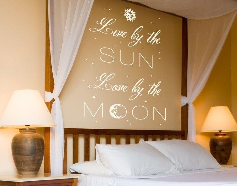 Fesselnd Live By The SUN   Love By The MOON! #walltattoo #sun #moon