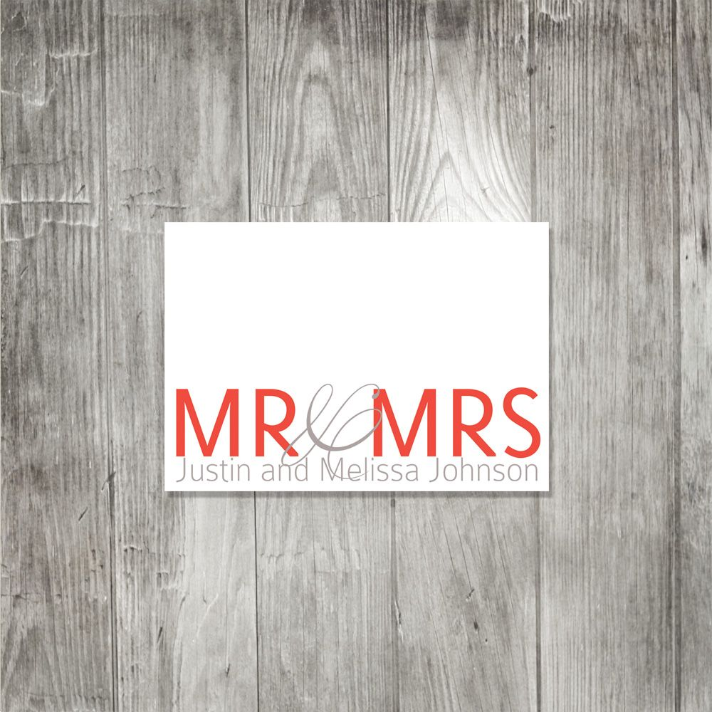 Mr and Mrs Personalized Notecards from Pink Lily Press | Invites ...