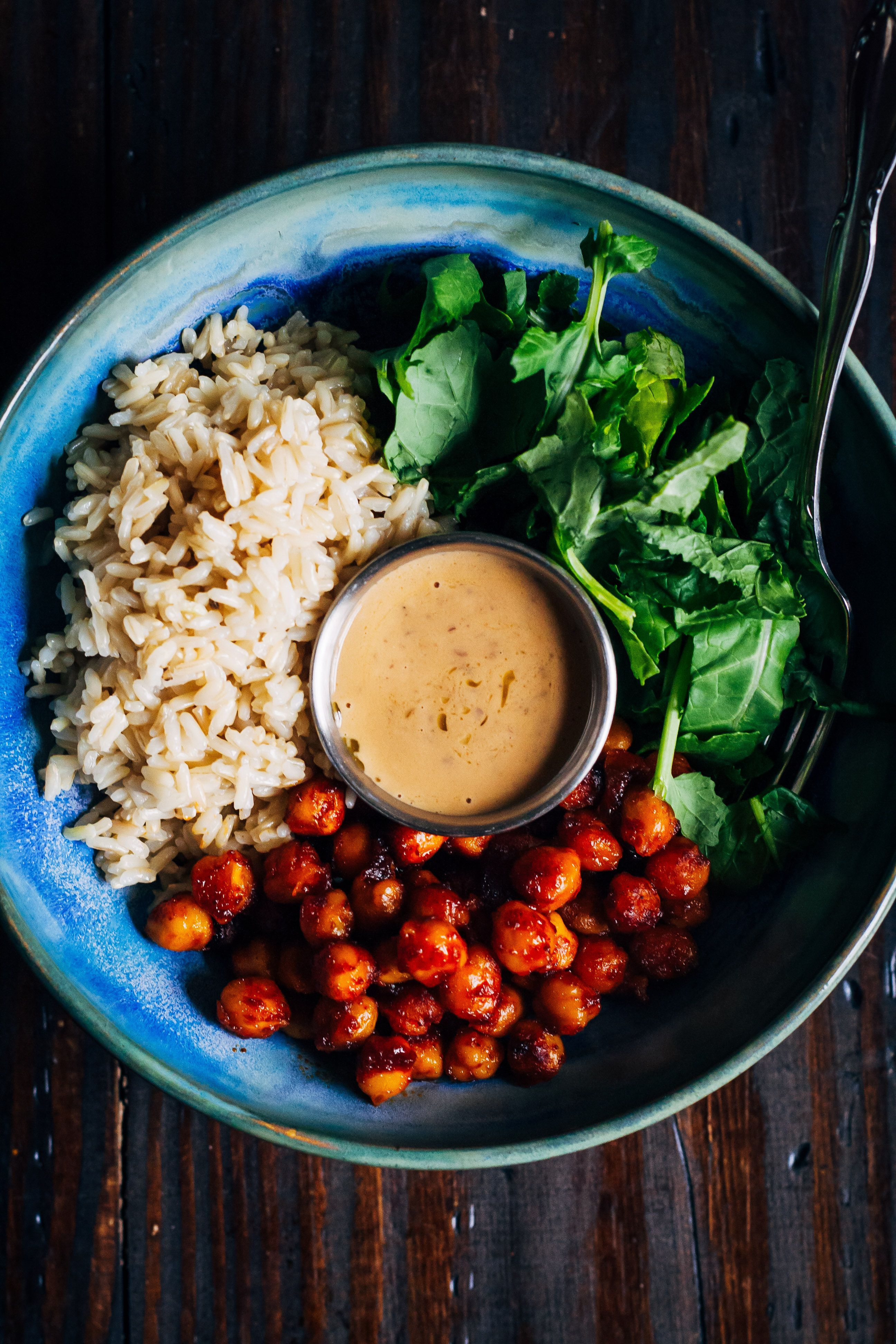 Barbecue Chickpea Rice Bowl