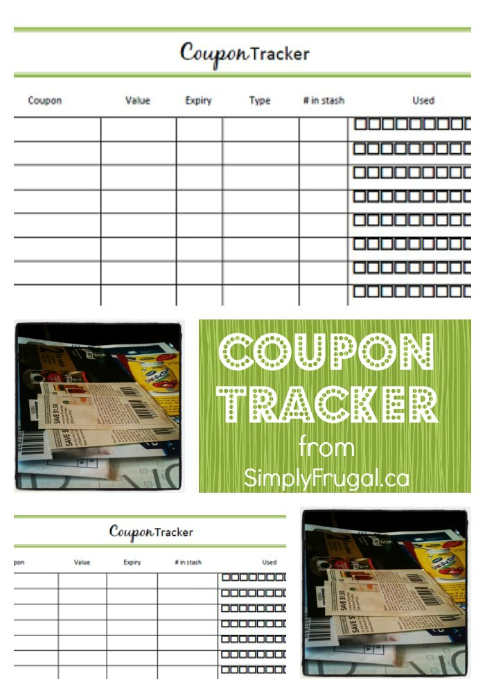 Free download coupon tracker printable coupons organizing and organize your coupon stash with these printable coupon trackers fandeluxe Gallery