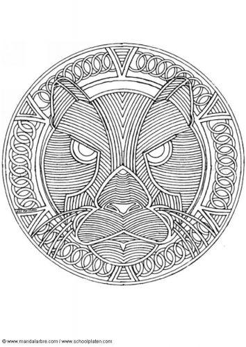 Tiger Mandala | Para colorear! | Pinterest | Mandalas, Repujado en ...