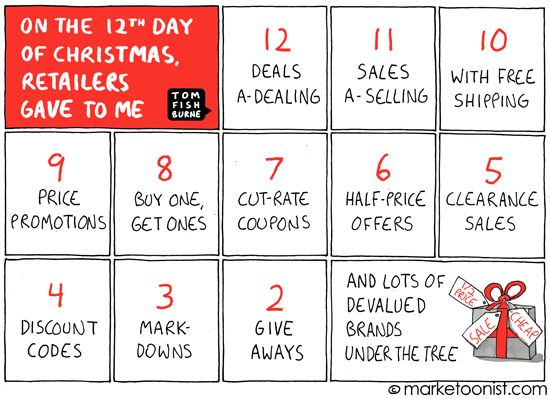 On The 12th Day Of Christmas Retailers Gave To Me Funny Marketing 12th Day Of Christmas Thing 1 Thing 2