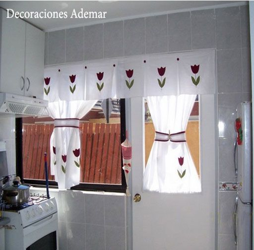 Cenefas para cocina en tela buscar con google cenefas - Cortinas de tela para cocina ...