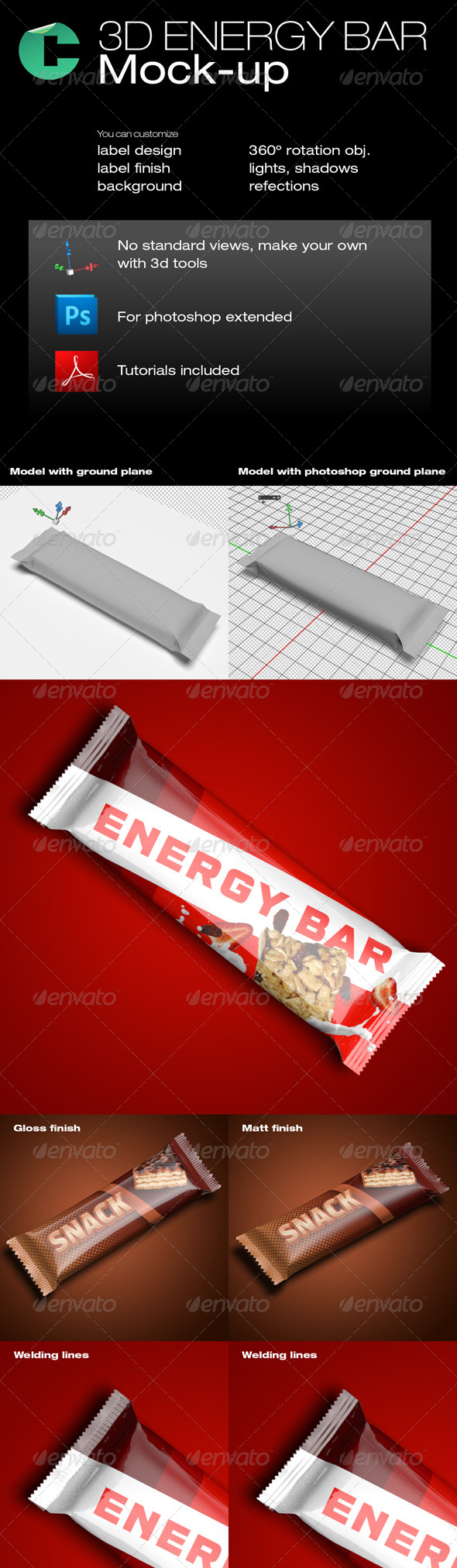 3d object energy bar graphicriver this product is compatible 3d object energy bar graphicriver this product is compatible with adobe photoshop cs4 extended and cs5 extended pdf tutorial include pinteres baditri Images