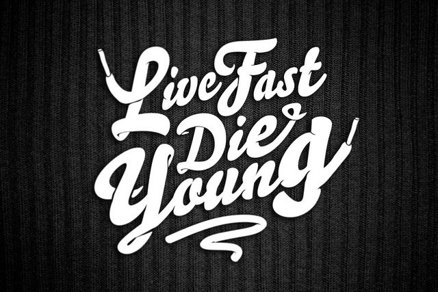 Live Fast Die Young T Shirt Typography Inspiration Pinterest