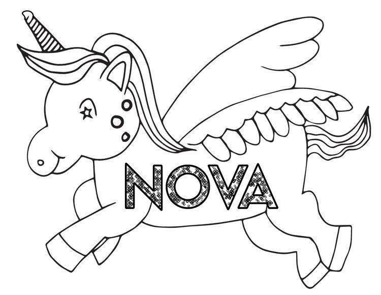 Simple Unicorn Nova Free Coloring Page Free Kids Coloring