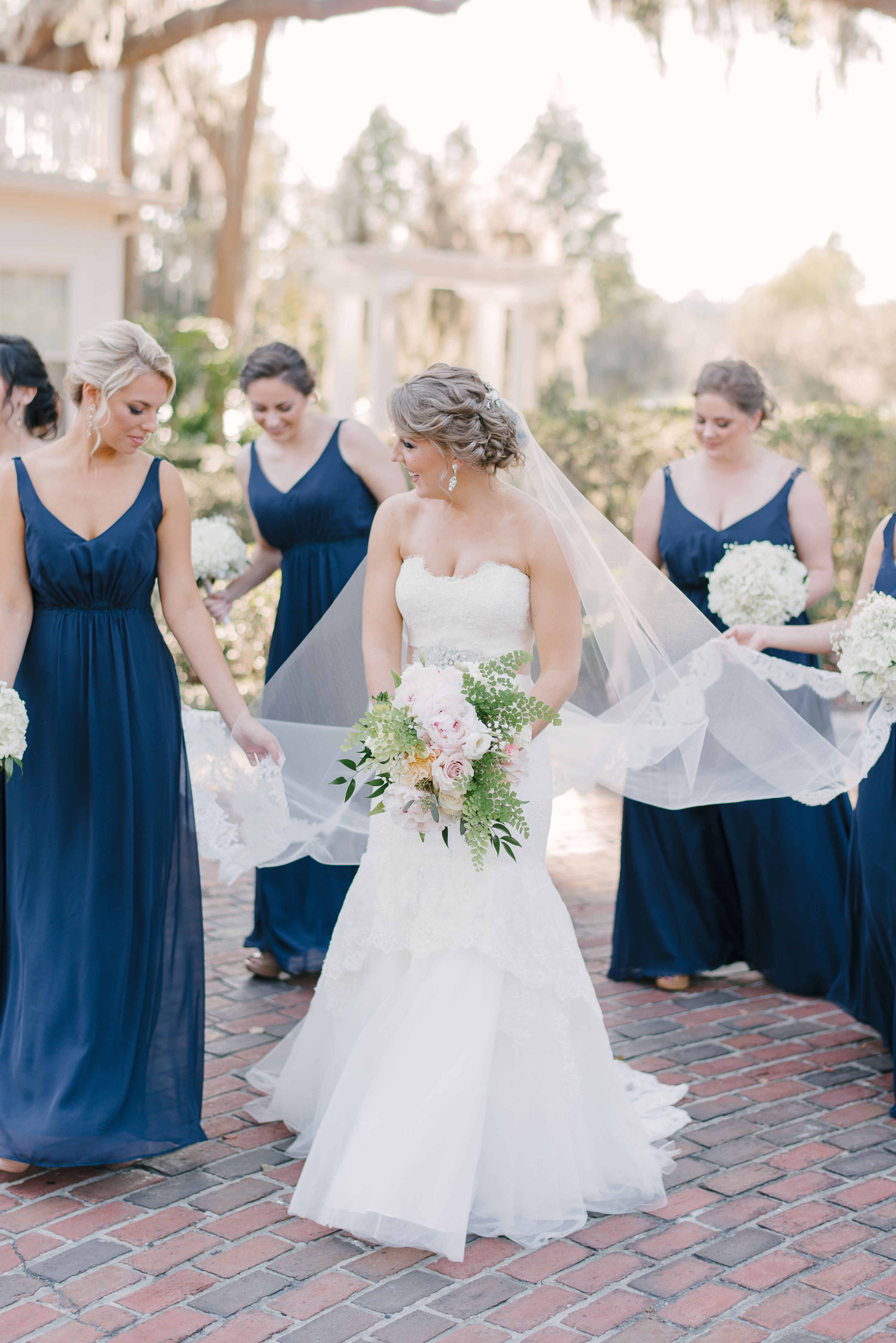 Real Bride in Bliss Monique Lhuillier Wedding Dress from