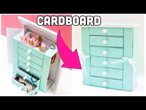 The BEST Jewelry Holder cardboard crafts diy storage YouTube