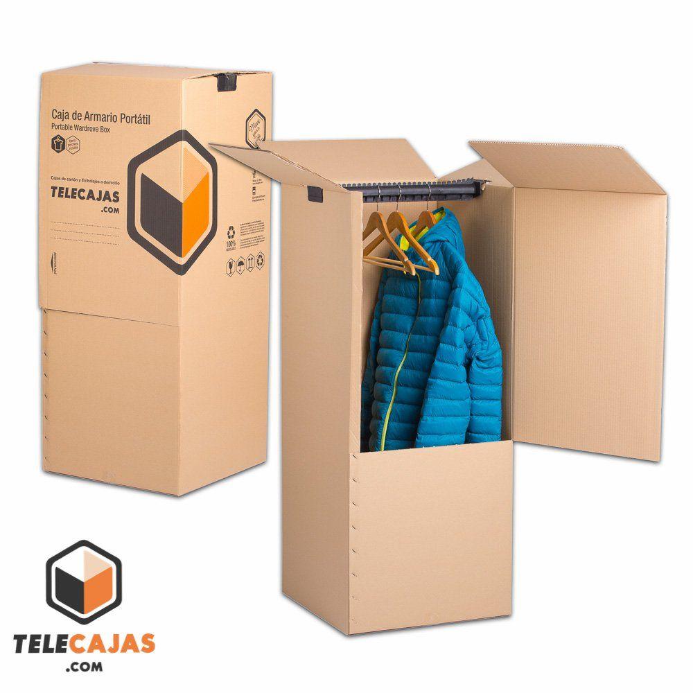 Caja de cart n de mudanza armario portatil http www - Cajas de mudanza ...