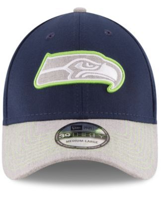 74a63a18 New Era Seattle Seahawks Heather 39THIRTY Cap - Gray L/XL | Products ...
