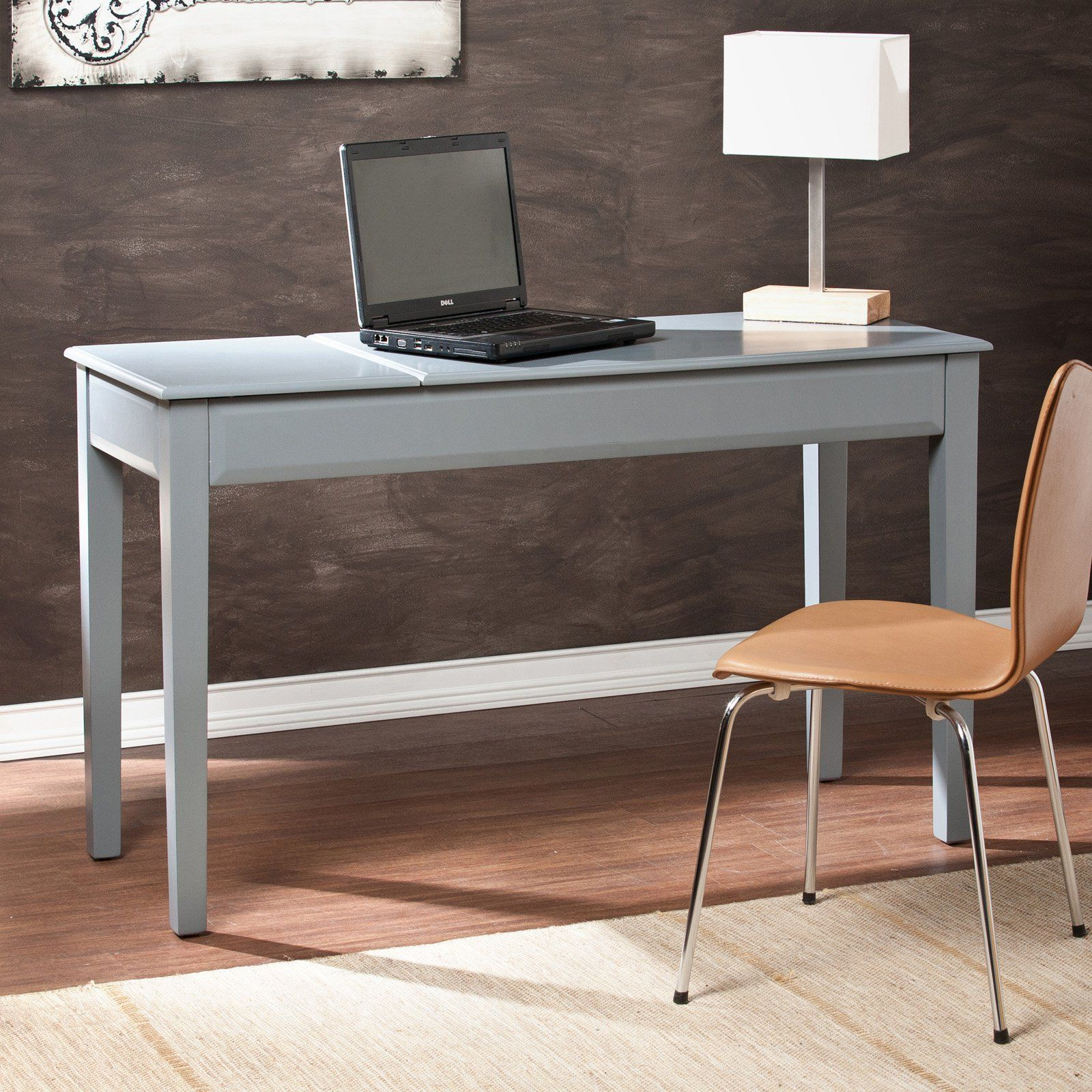 Have to have it. Holly & Martin Uphove Writing Desk - Cool Gray ...