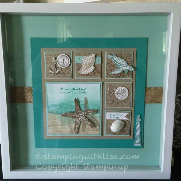 Pin de Darlene Getson en SU Shadow Box/ Framed Art   Pinterest   Cuadro
