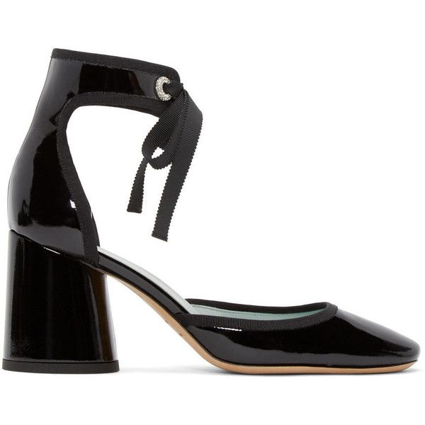 22594fcdfb09 Marc Jacobs Black Patent Leather Elle Heels ( 485) ❤ liked on Polyvore  featuring shoes