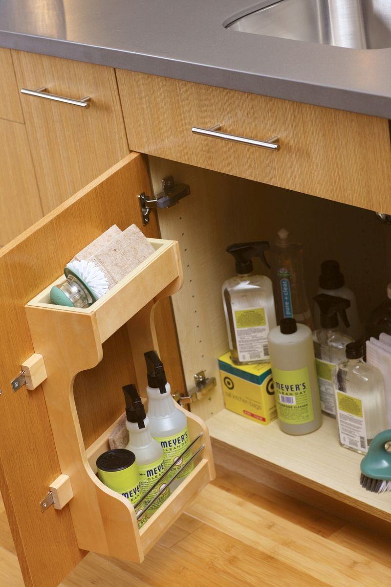 Solving Sink Storage in the Bathroom | Organize cleaning supplies ...