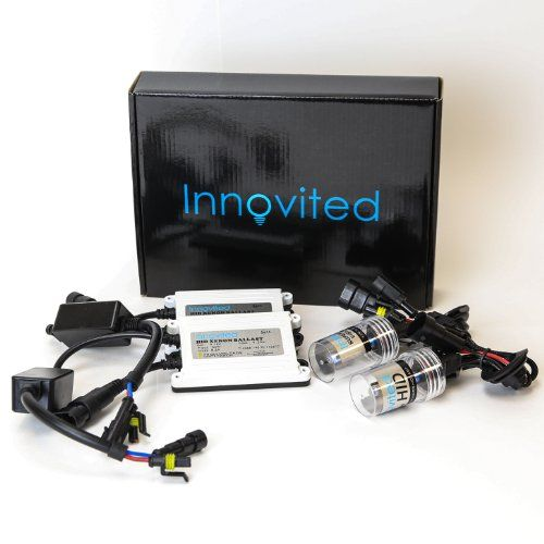 Ice Blue 2 Year Warranty Innovited DC 35W Xenon HID Lights KitAll Bulb Sizes and Colors with Premium Slim Ballast H11 H9 H8-8000K
