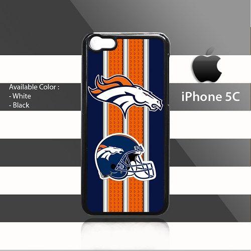 Denver Broncos Leo Stripes iPhone 5c Rubber Case Cover