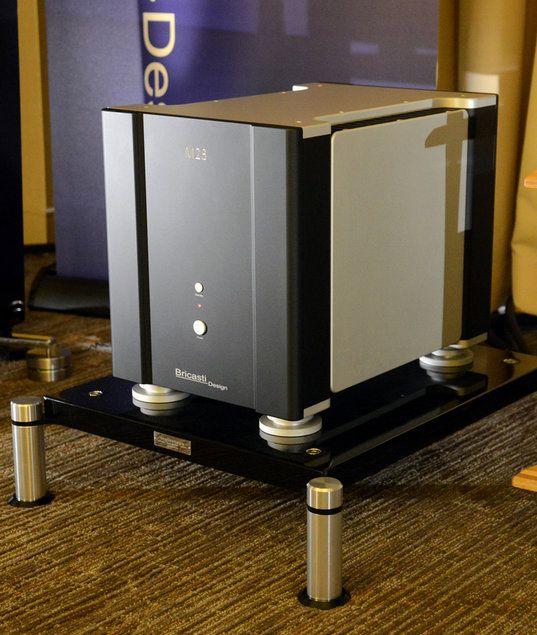 Bricasti Design was showcasing its new M28 ($30,000/pr.)